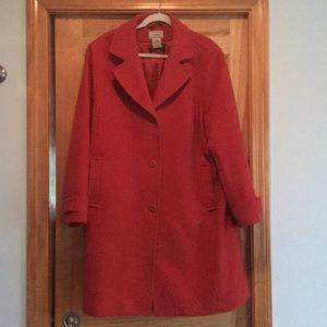LL Bean wool dress coat